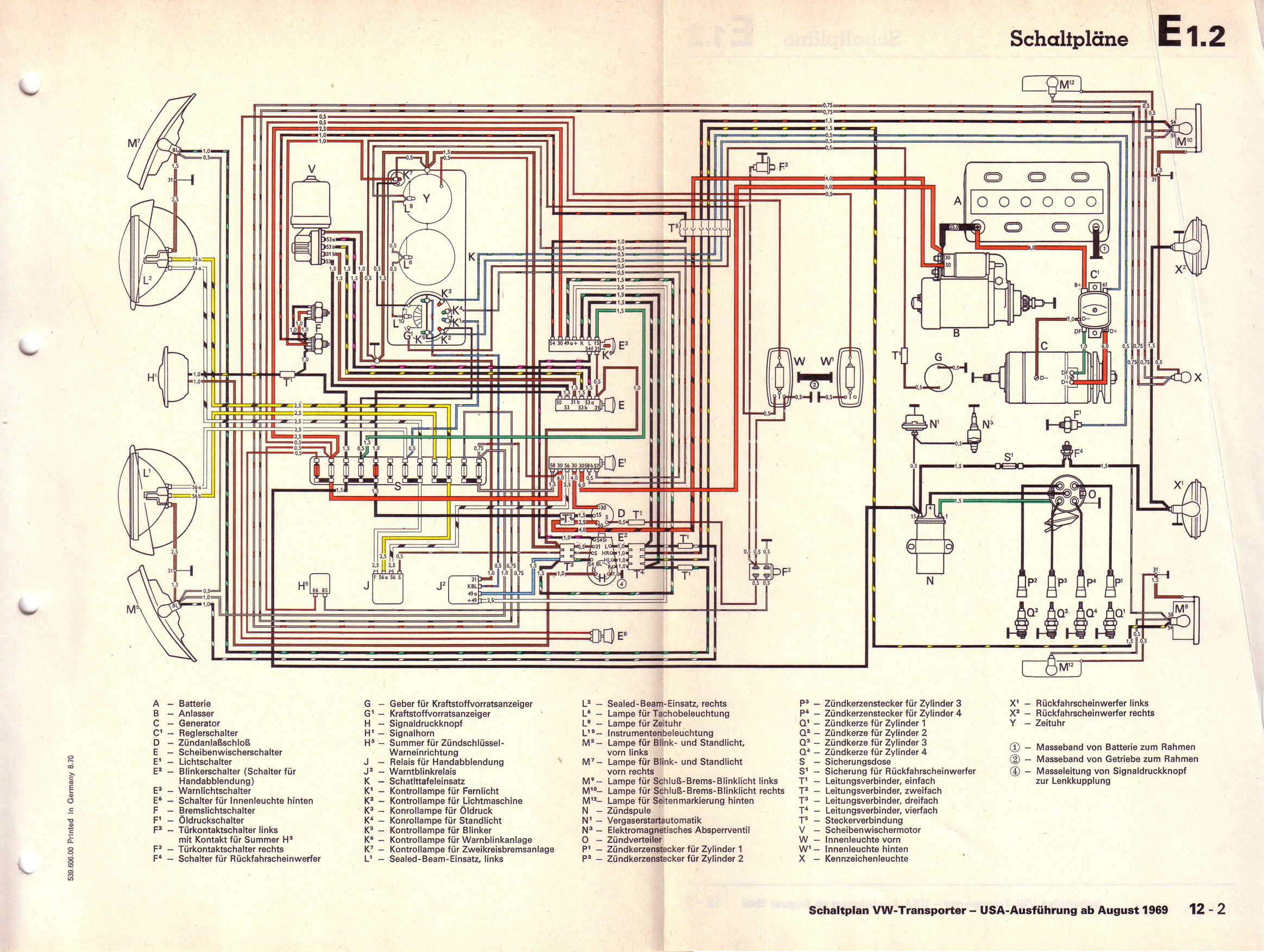 1976 Vw Wiring Diagram Great Design Of Bus Fuse 1970 08 T2 Carburetor Beetle Kombi