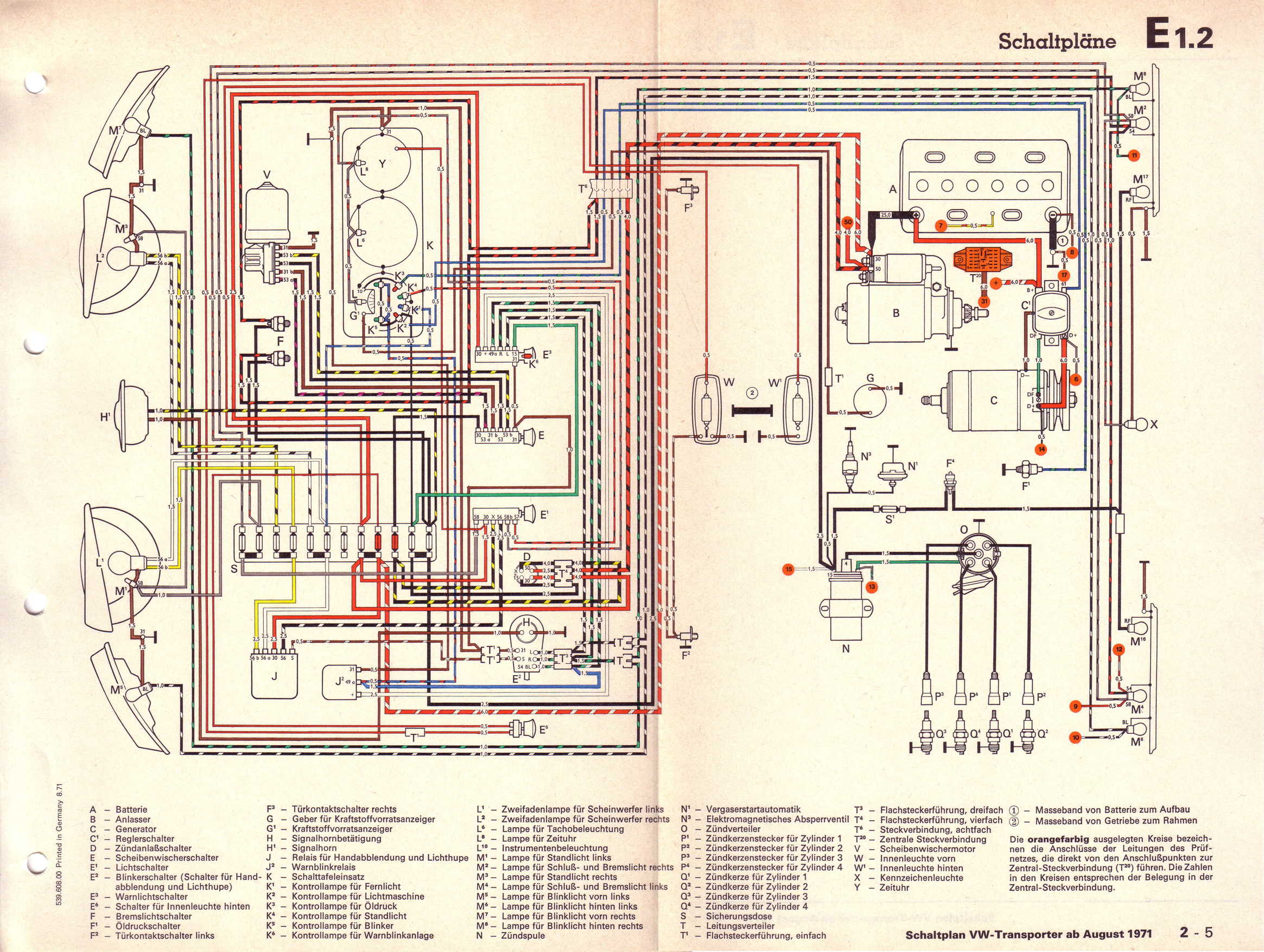 Vw T2 Wiring Diagram 1977 Library Volkswagen T5 Transporter 16 L Vergasermotor Ab August 1971