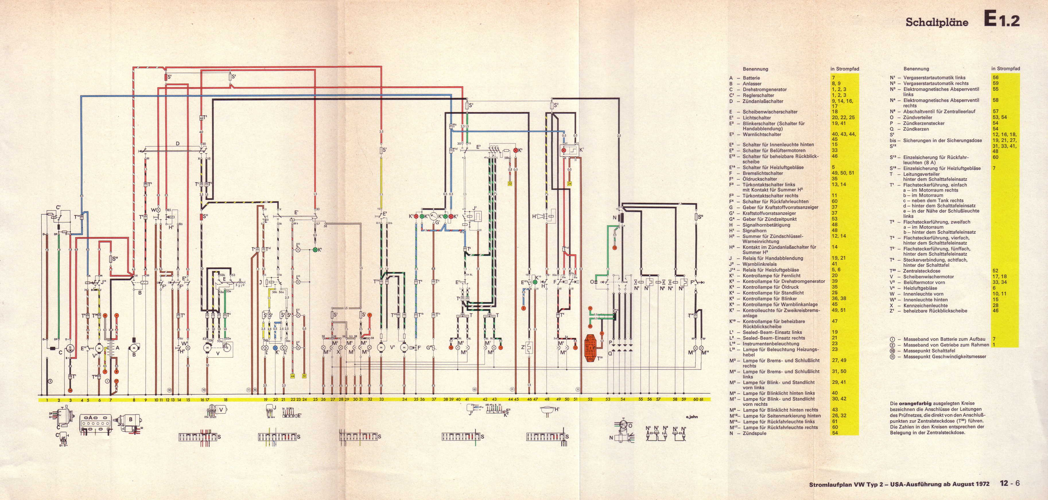 1970 08 vw t2 wiring diagram 1970 vw carburetor wiring