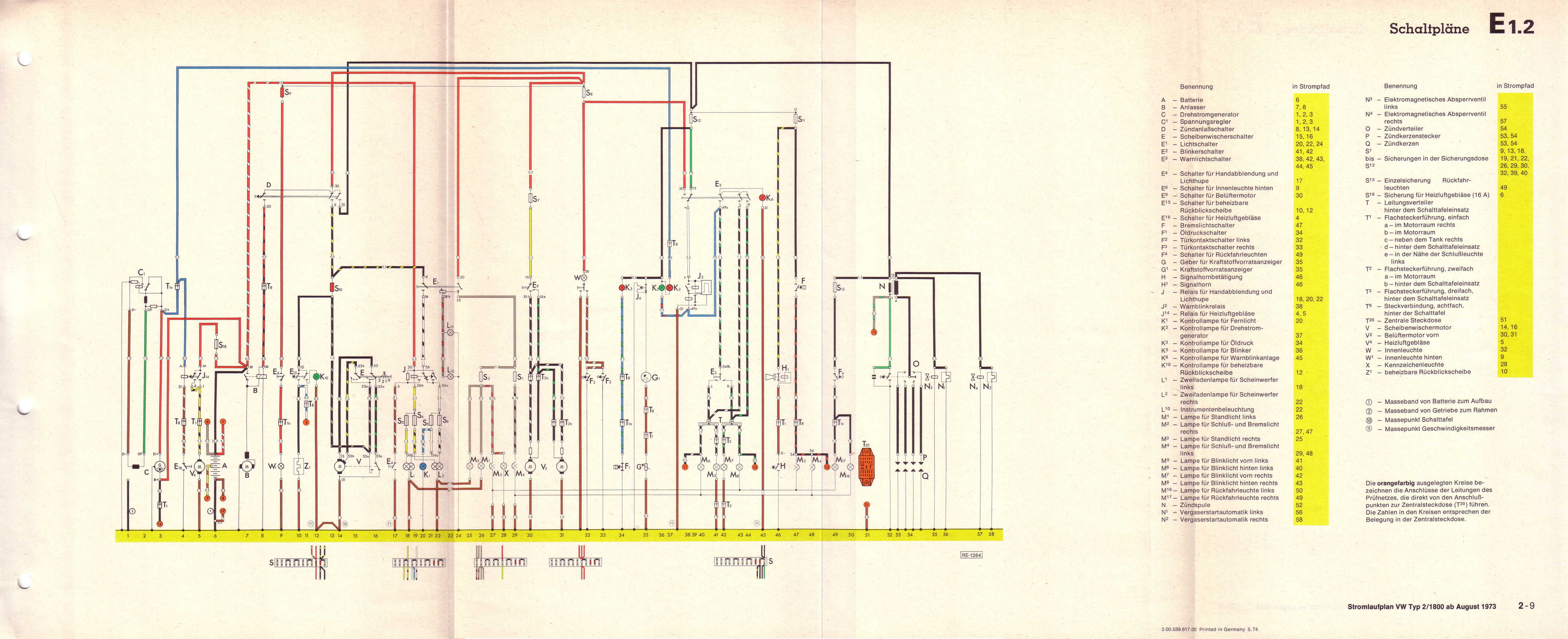 Vw T L Wiring Diagram on Wiring Diagram For 1973 Vw Transporter