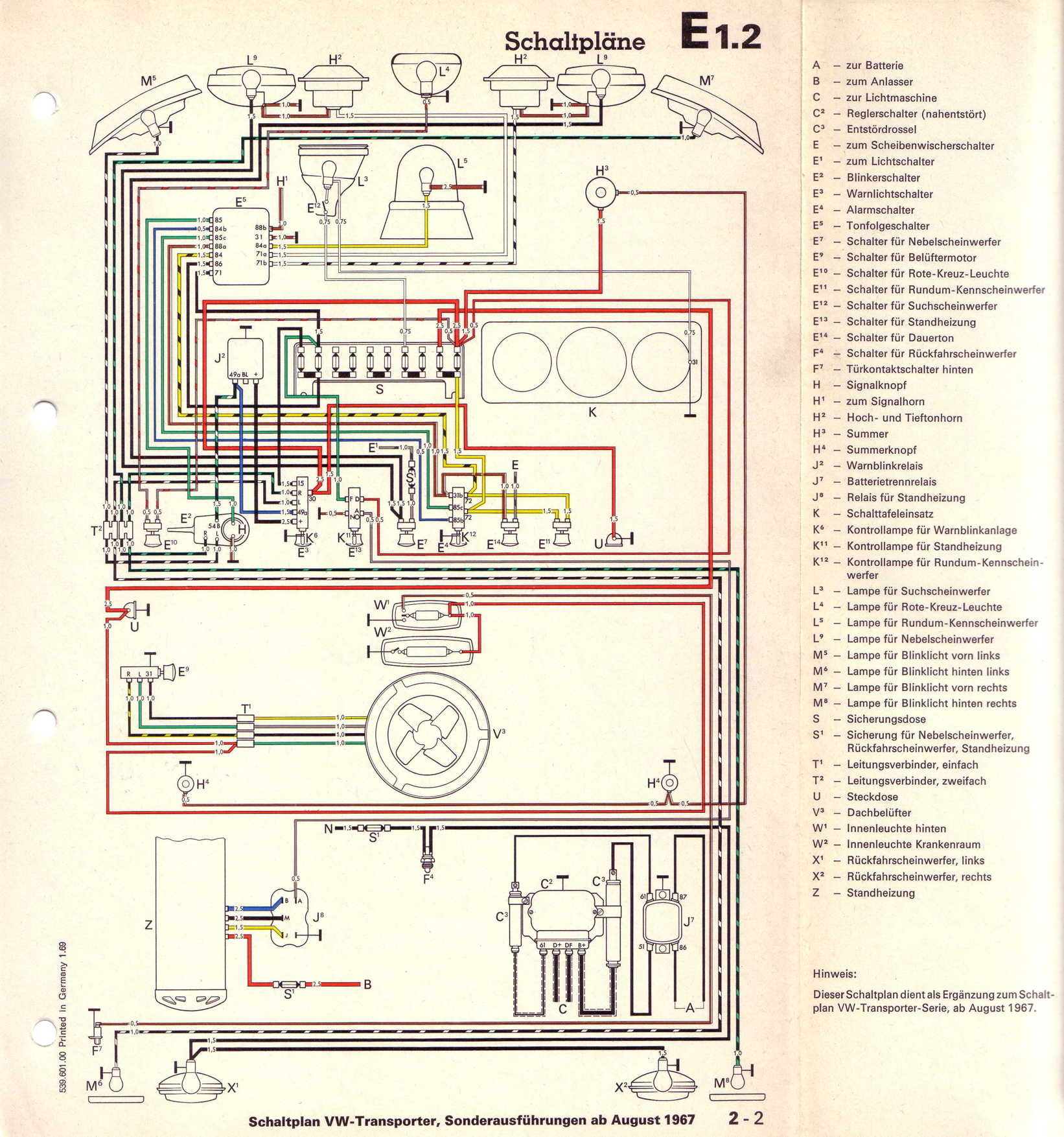 Vw T Special Wiring Diagram on 1967 volkswagen wiring diagram