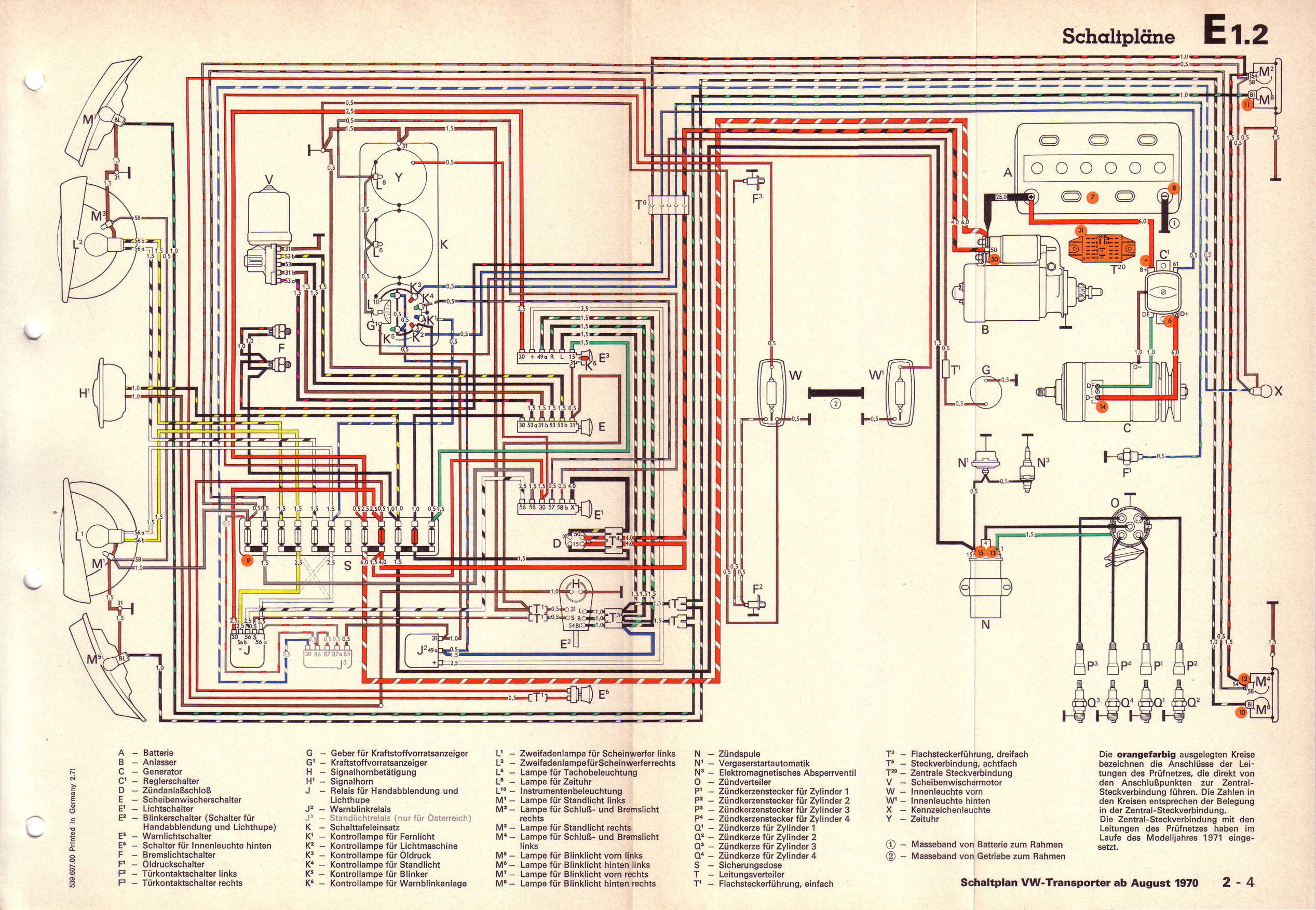 Vw T2 Wiring Diagram 1977 Great Design Of Beetle 1971 Rd 1970 Volkswagen Datsun 240z 64 Bug Super