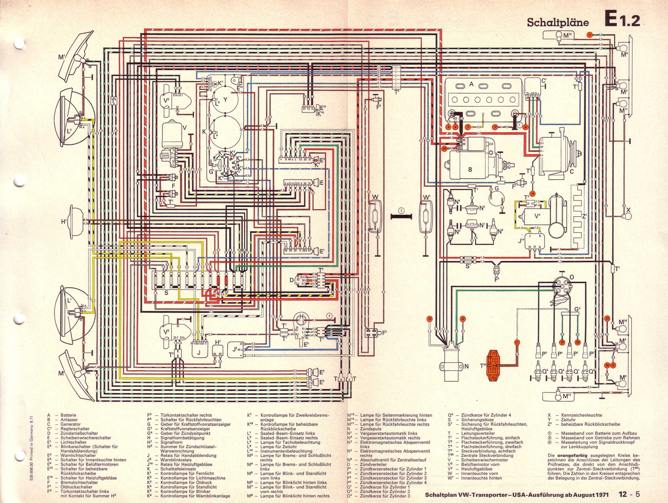 Volkswagen T2 Wiring Diagram Archive Of Automotive 1973 Bmw Motorcycle Baduras Bulli Seite Stromlaufpl Ne Rh Vw De 1971